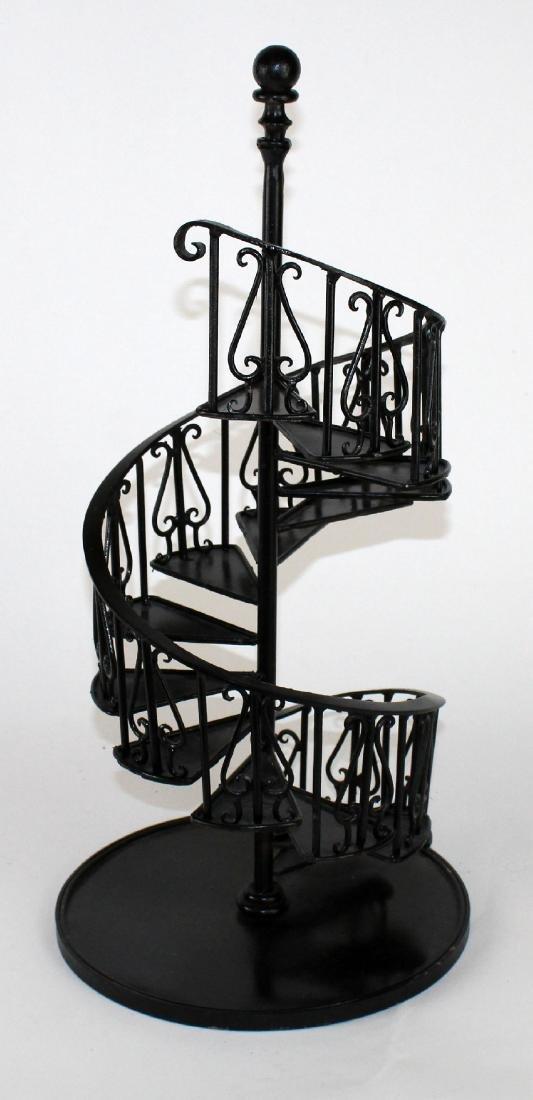 Iron spiral staircase model