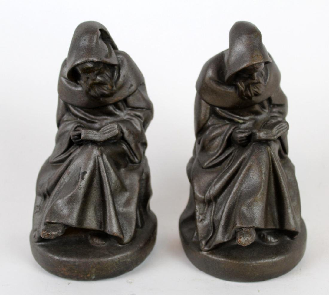 Armor Bronze Co. Reading Monk Bookends