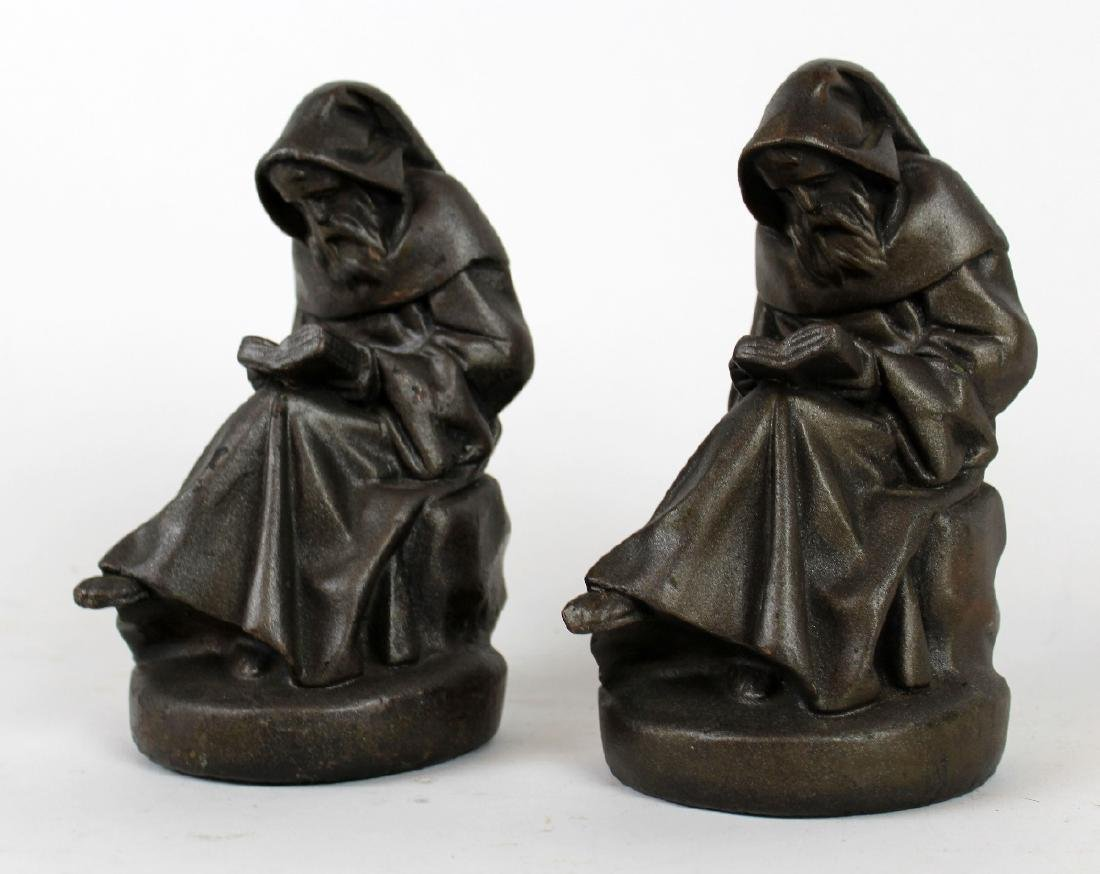 Armor Bronze Co. Reading Monk Bookends - 2