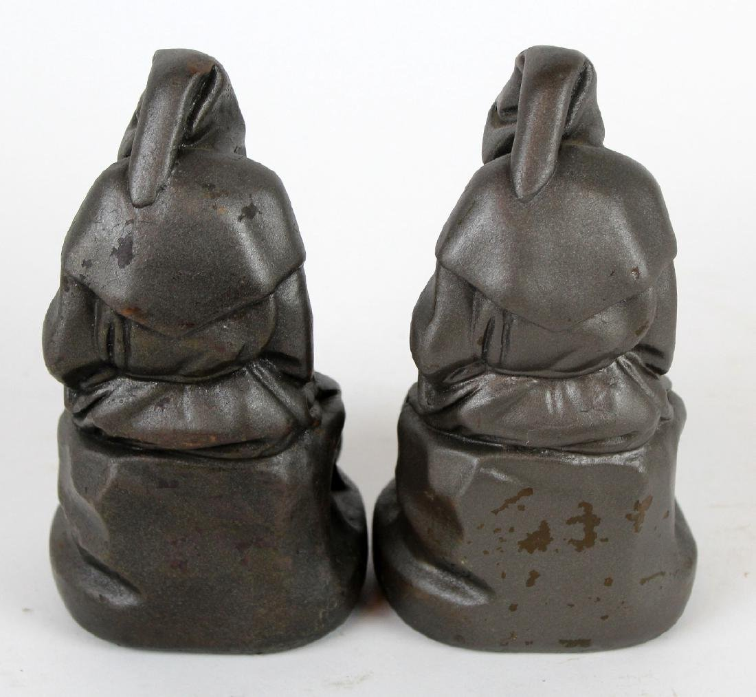 Armor Bronze Co. Reading Monk Bookends - 4