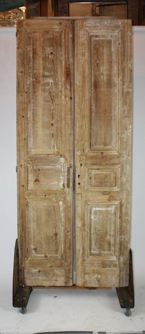 Rustic pine doors