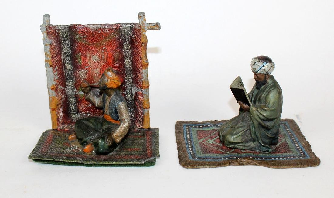 Grouping of 2 cold painted Arabian figurines