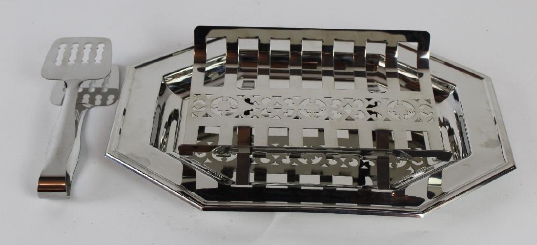 Jean Couzon Orfevre silverplate asparagus platter