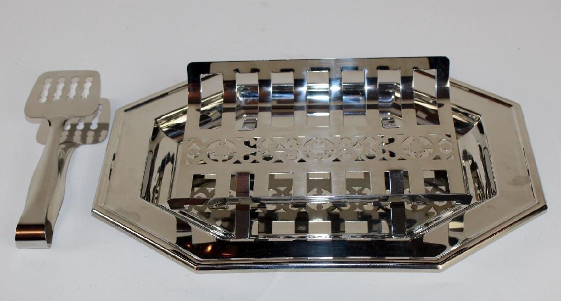 Jean Couzon Orfevre silverplate asparagus platter - 4