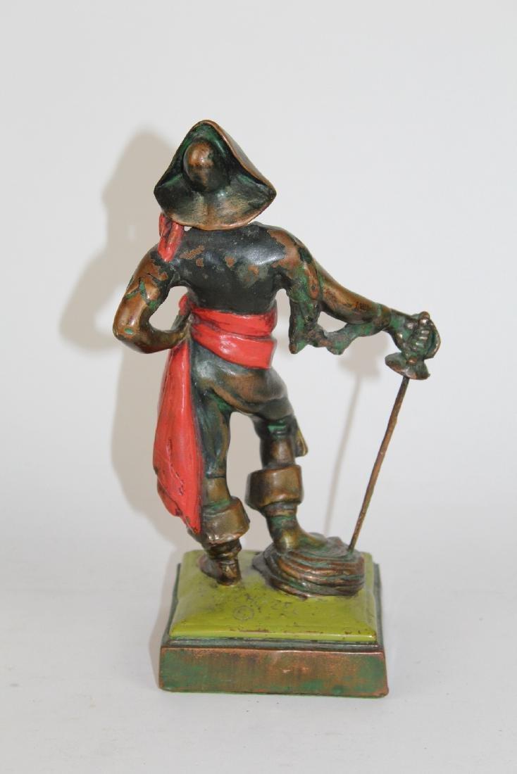 Armor Bronze Co Paul Herzel bronze statue - 2