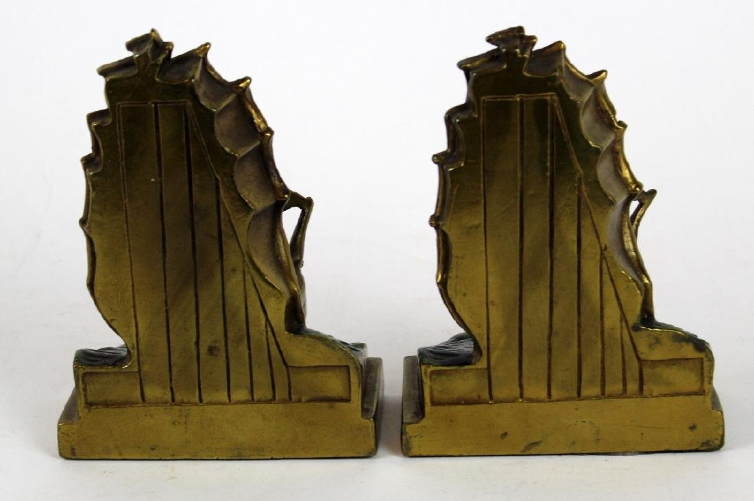 Pompeian Bronze Co Clipper Ship bookends - 2