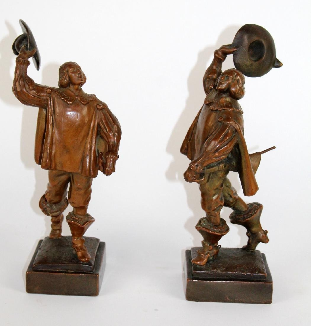 Pair of copper clad crusader bookends
