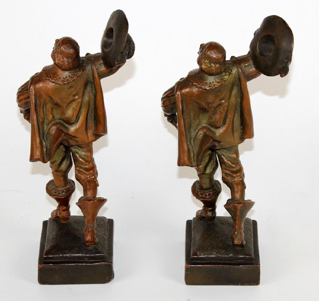 Pair of copper clad crusader bookends - 2