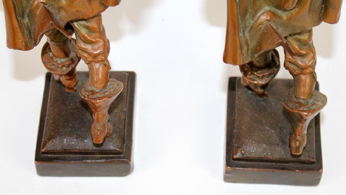 Pair of copper clad crusader bookends - 3