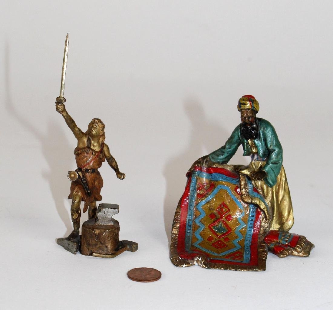 Lot of 2 cold painted bronze figurines - 2