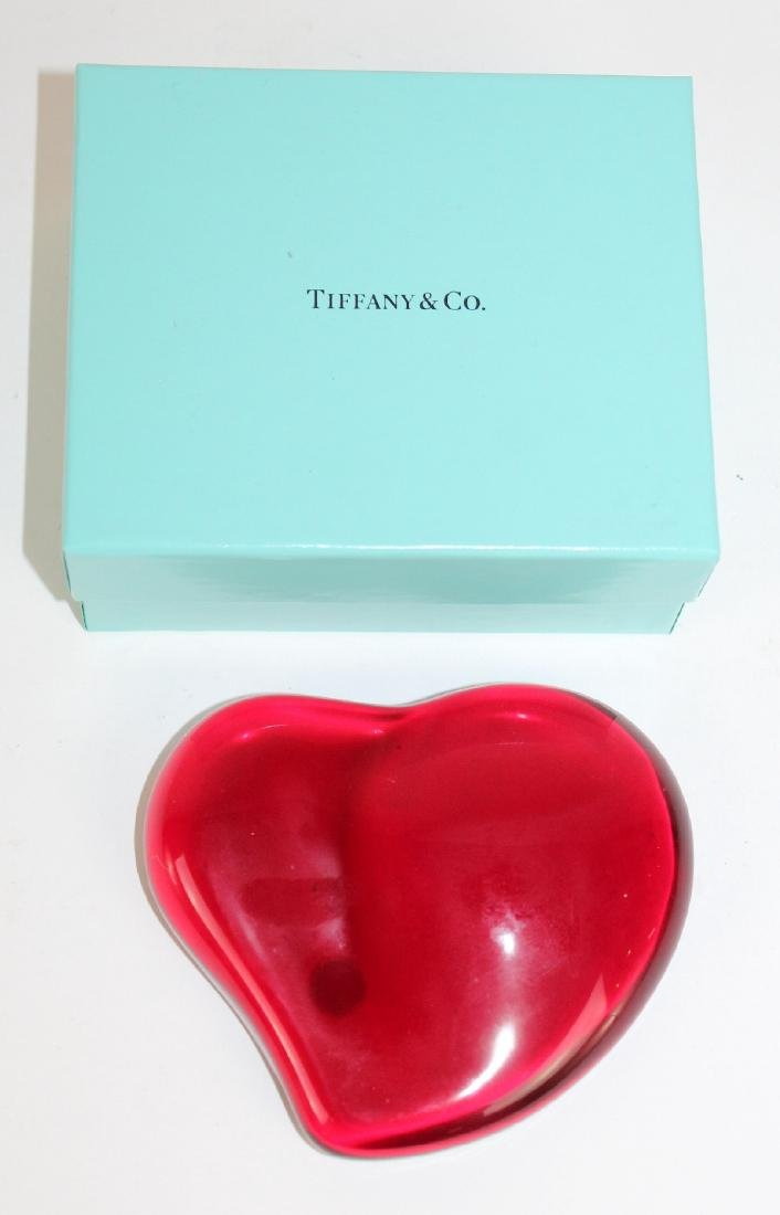 Elsa Peretti for Tiffany & Co Red Heart Paperweight