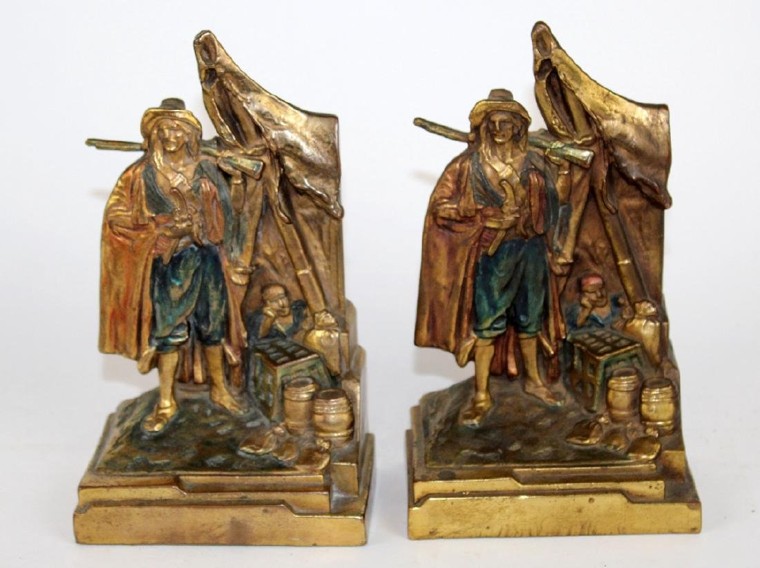 Pompeian Bronze Co Pirate Booty bookends