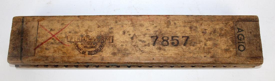 Antique Dutch wooden cigar mold