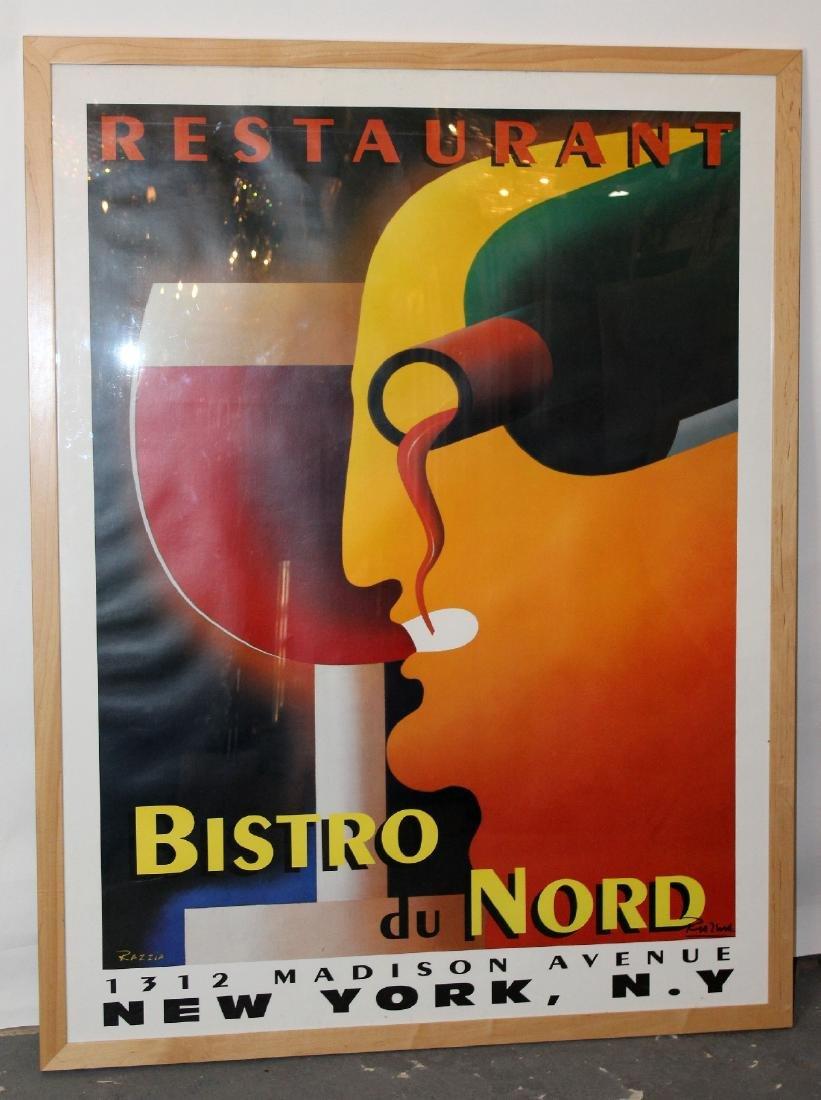 Large scale Bistro du Nord framed poster