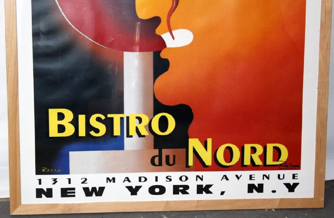 Large scale Bistro du Nord framed poster - 2