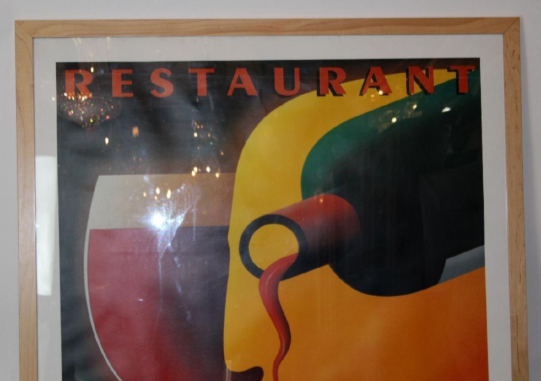 Large scale Bistro du Nord framed poster - 3