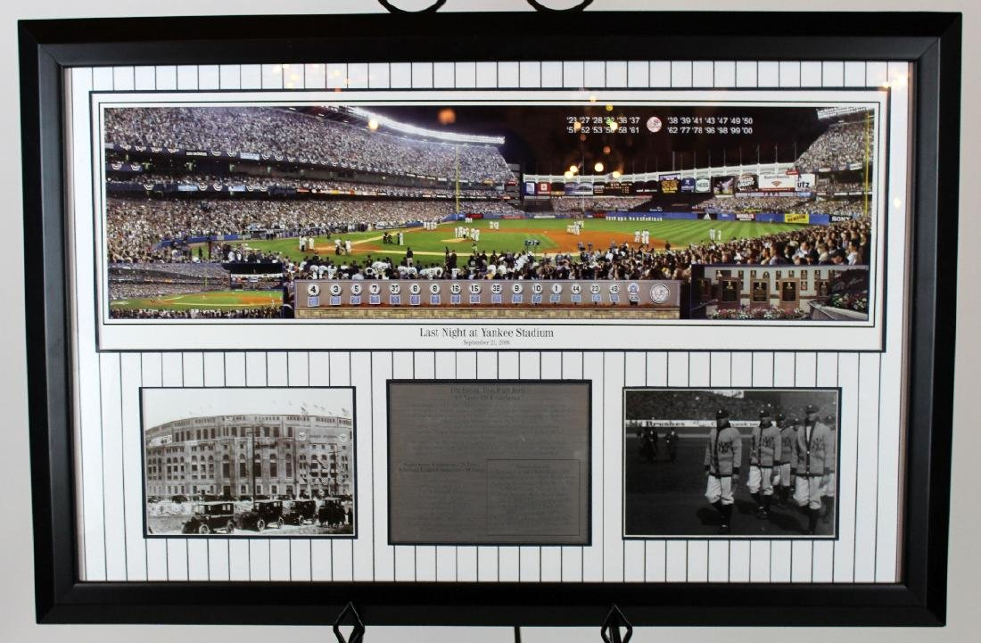 Last Night at Yankee Stadium commemorative print