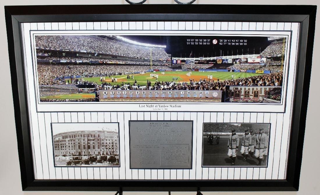 Last Night at Yankee Stadium commemorative print - 2