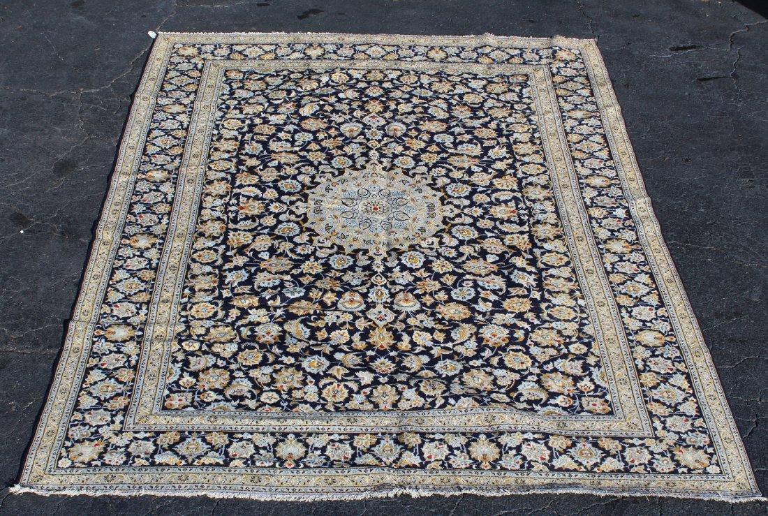 10 x 13' Persian Kashan wool rug