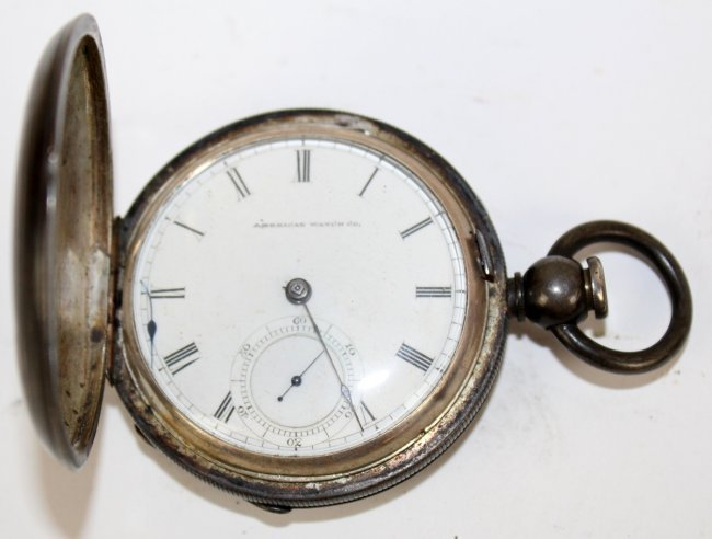 American Watch Co coin silver pocket watch