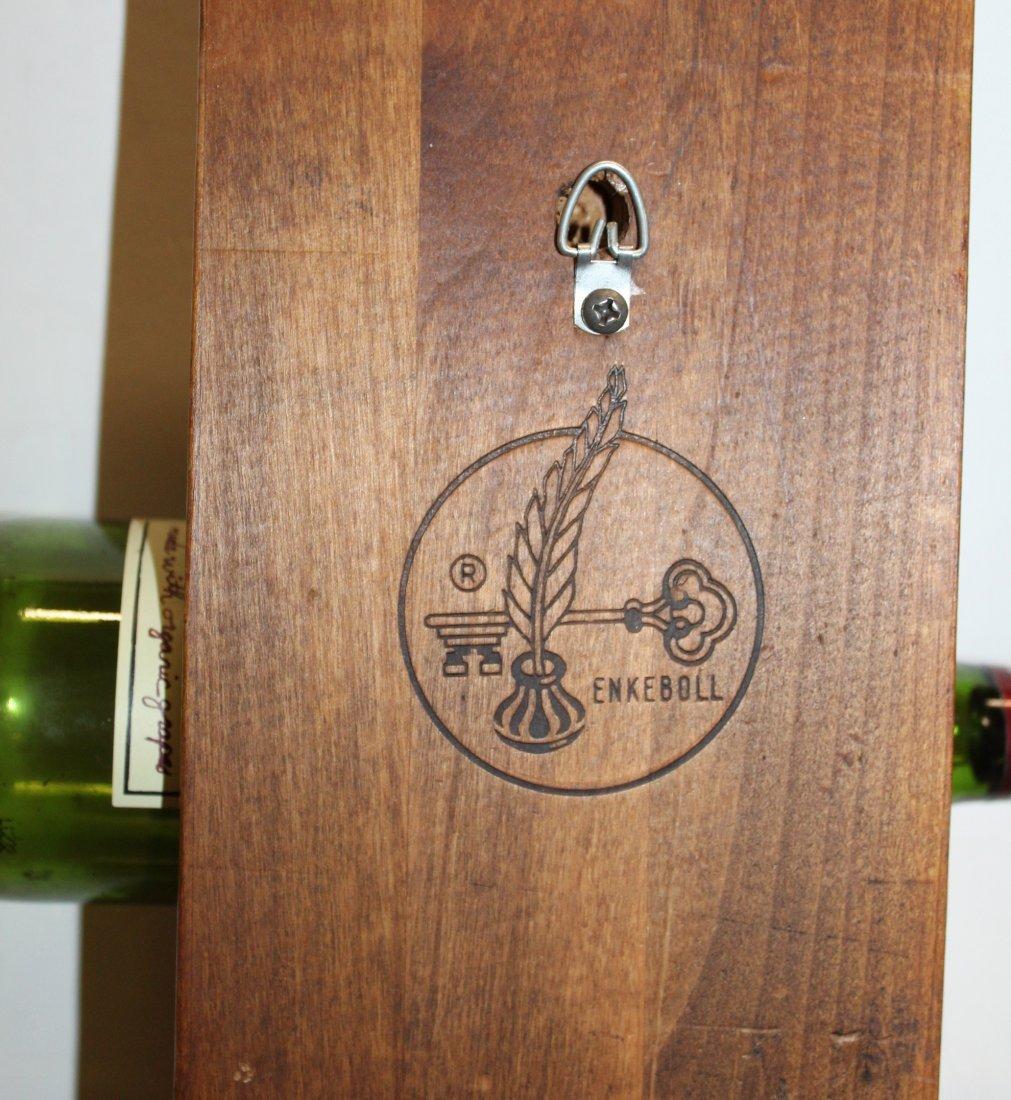 Vintage Enkeboll carved wood wine bottle rack - 5