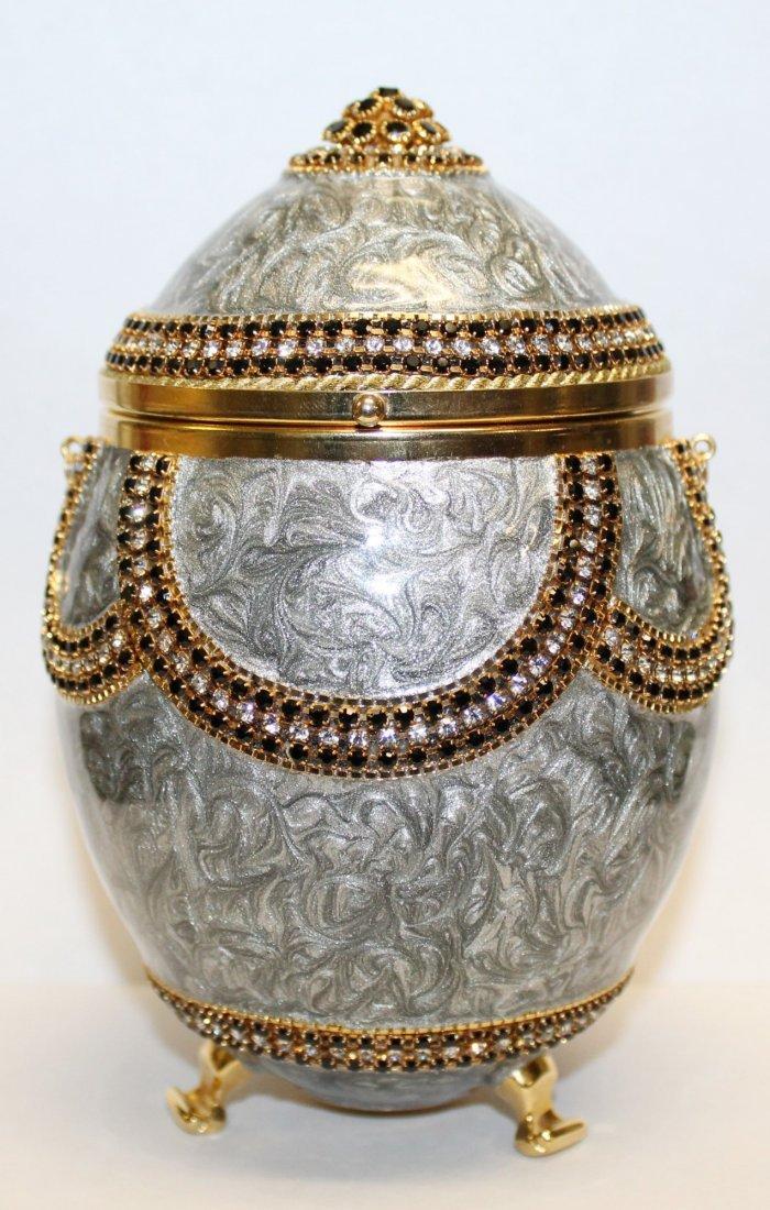 Vivian Alexander egg purse enamel with crystals