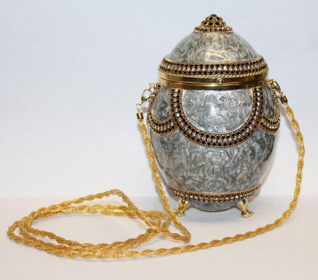 Vivian Alexander egg purse enamel with crystals - 2