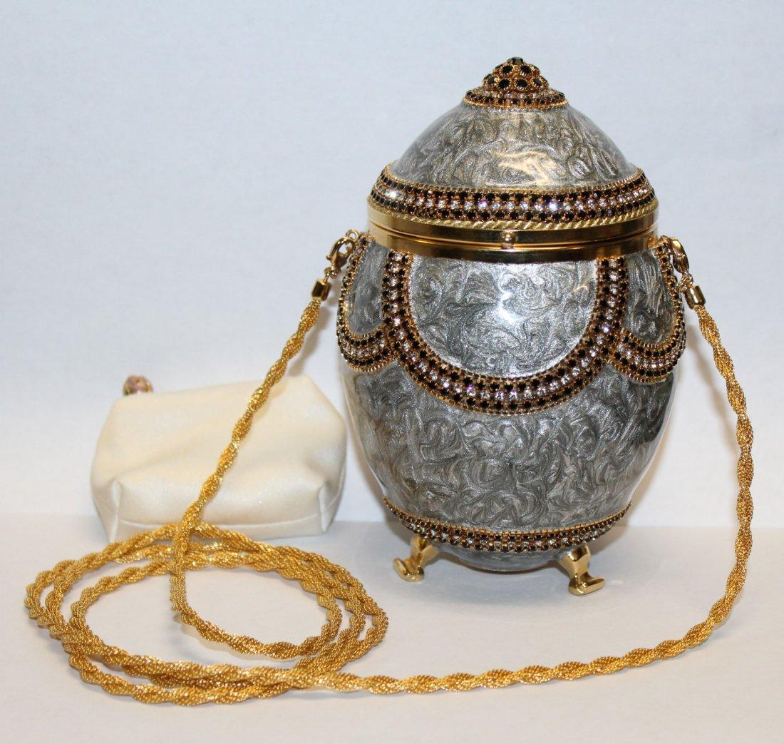 Vivian Alexander egg purse enamel with crystals - 3