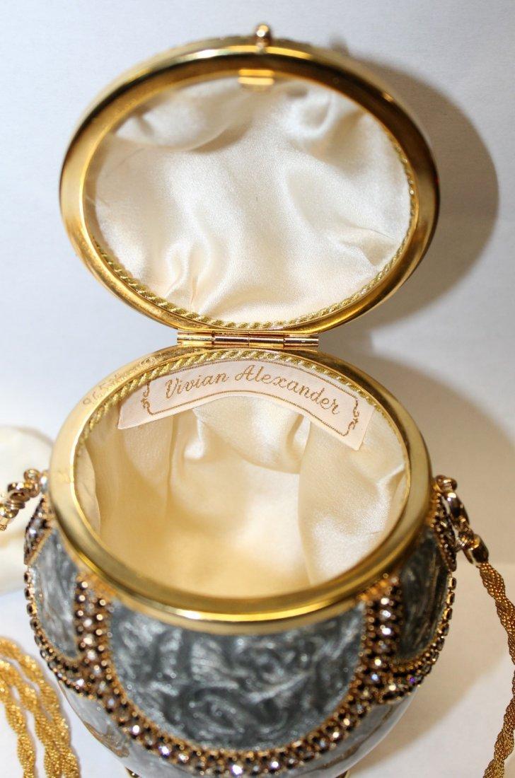 Vivian Alexander egg purse enamel with crystals - 4