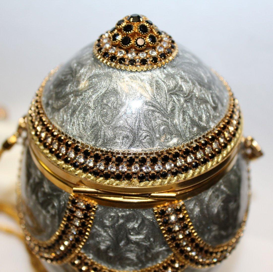 Vivian Alexander egg purse enamel with crystals - 5
