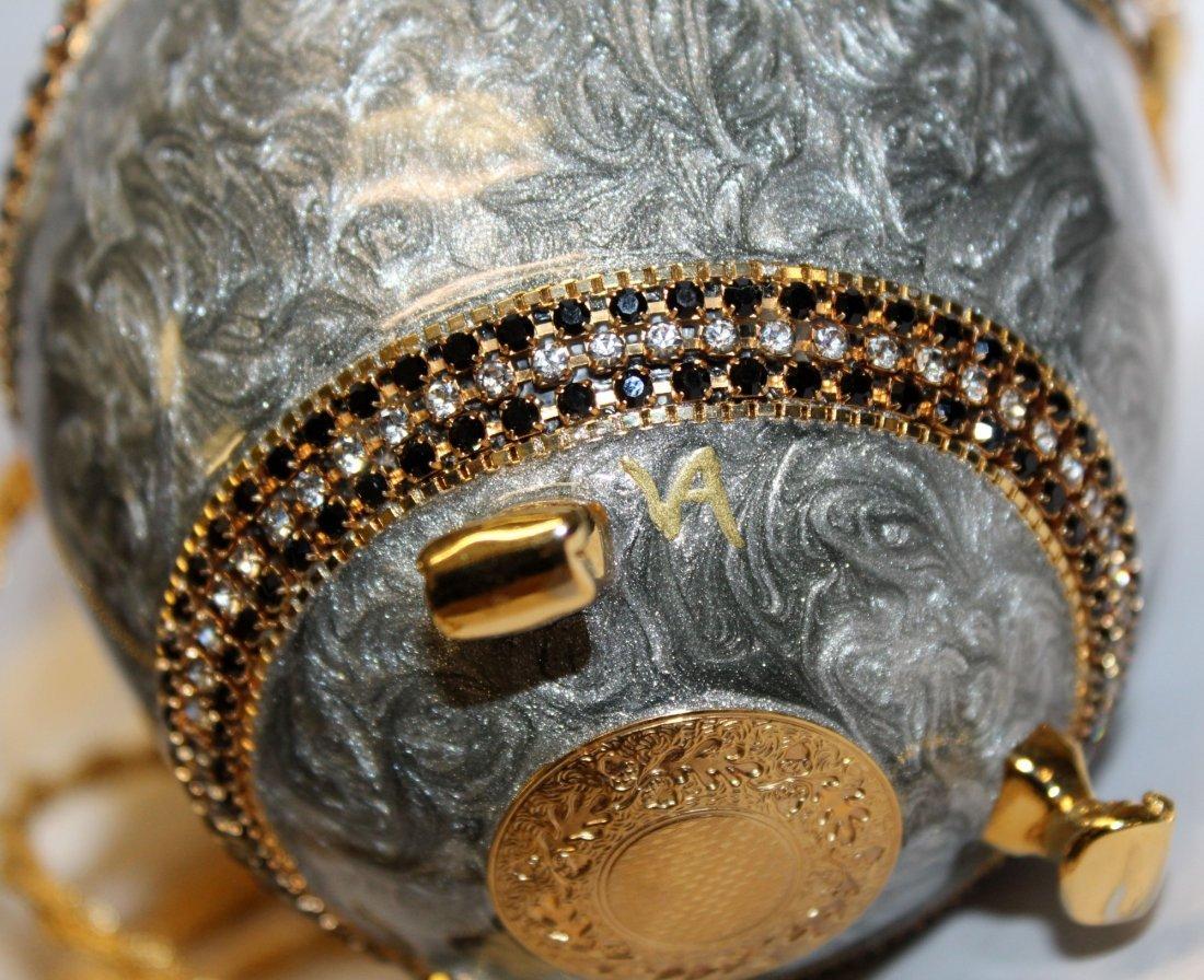 Vivian Alexander egg purse enamel with crystals - 6