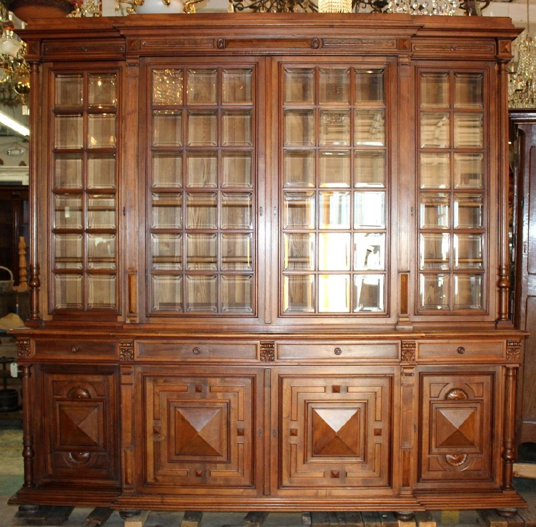 Grand scale French Renaissance bookcase
