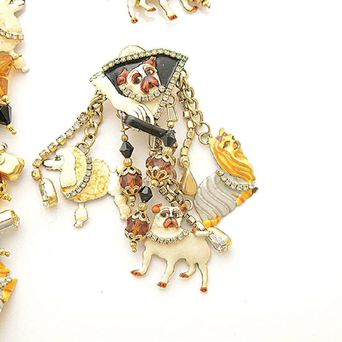 Lunch at the Ritz Couture Dog Theme Costume Jewelry - 3
