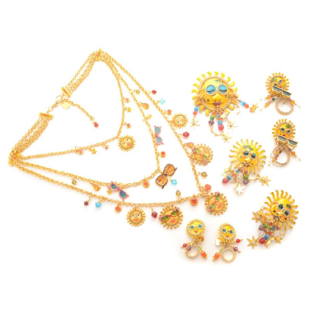 Lunch at the Ritz Couture Costume Sun Theme Jewelry