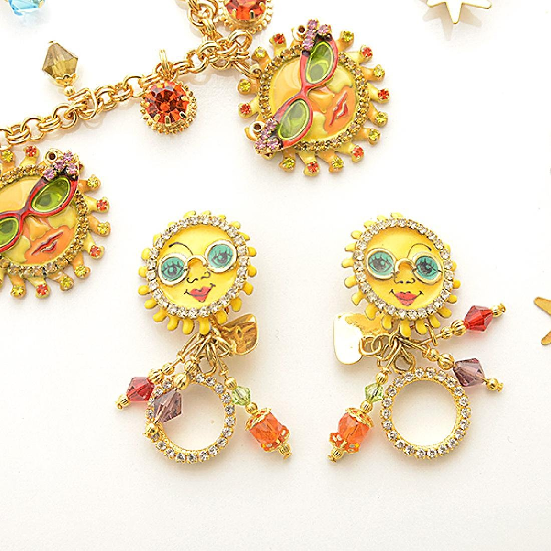 Lunch at the Ritz Couture Costume Sun Theme Jewelry - 2