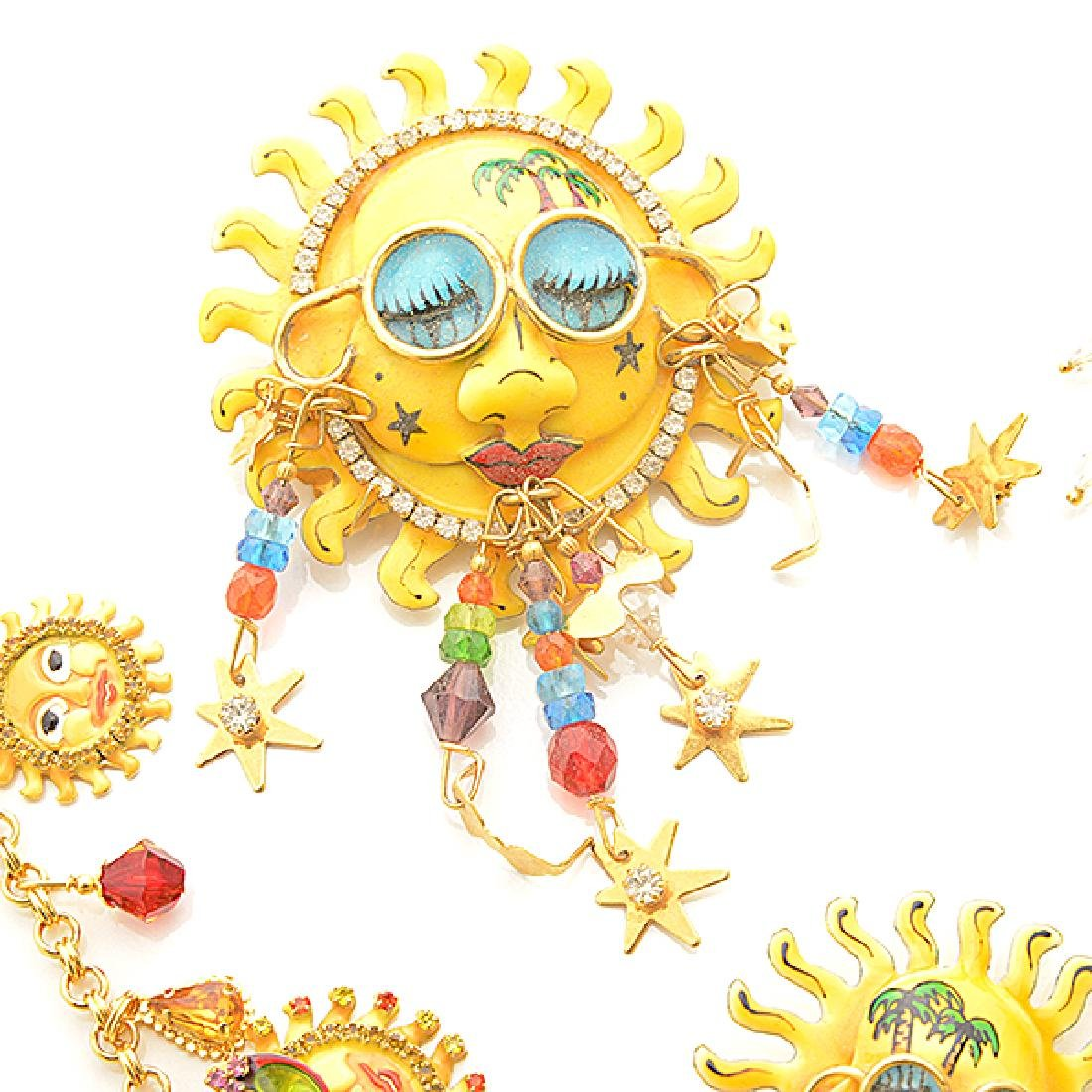Lunch at the Ritz Couture Costume Sun Theme Jewelry - 3