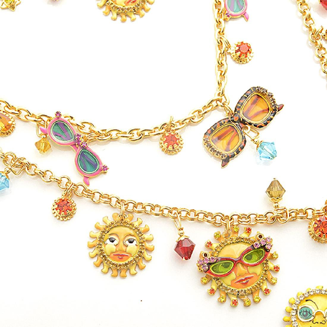 Lunch at the Ritz Couture Costume Sun Theme Jewelry - 4