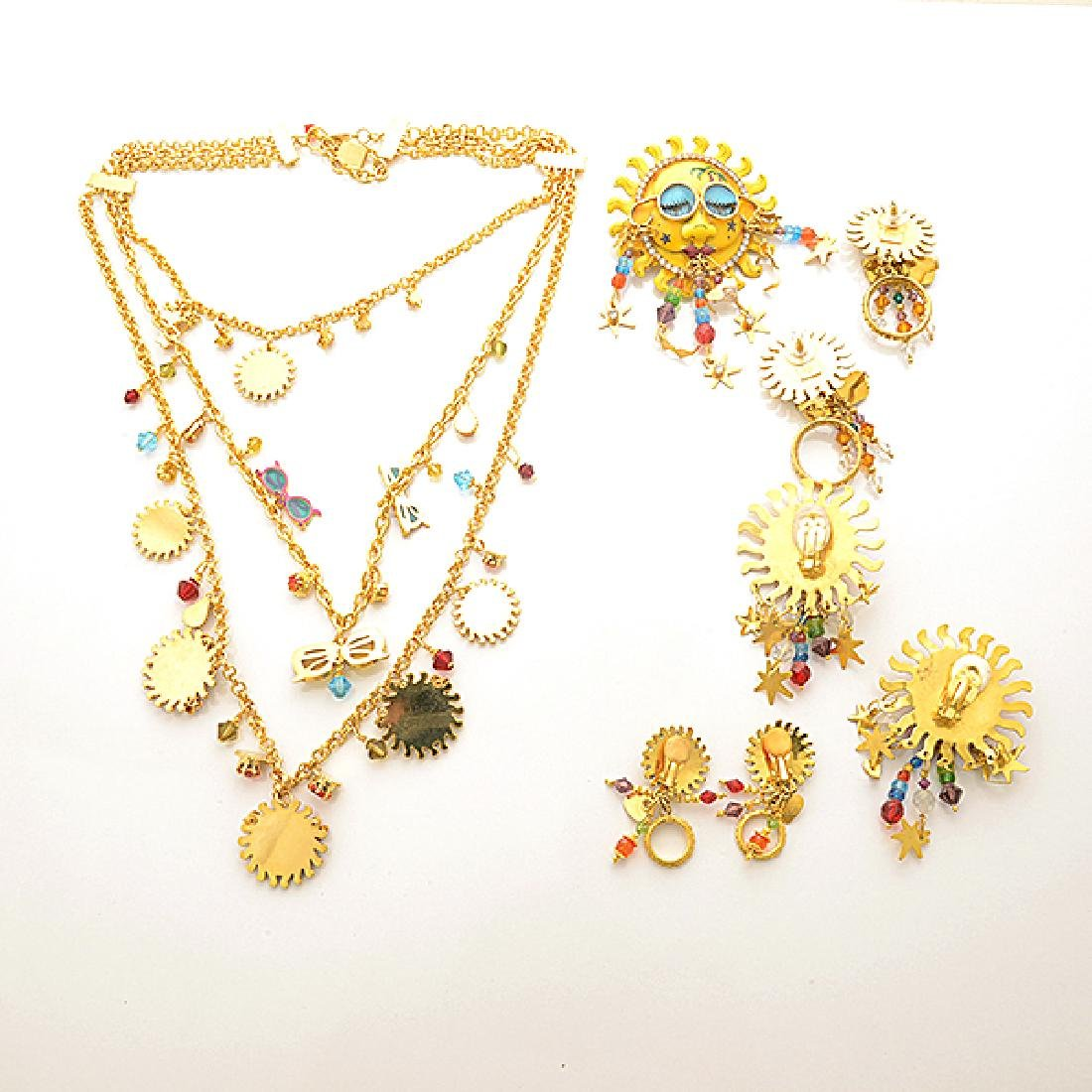Lunch at the Ritz Couture Costume Sun Theme Jewelry - 5