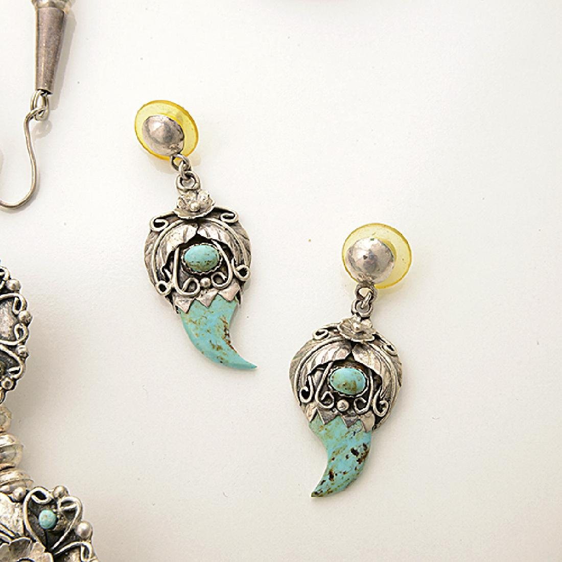 Native American Chrysocolla-in-Chalcedony, Sterling - 4