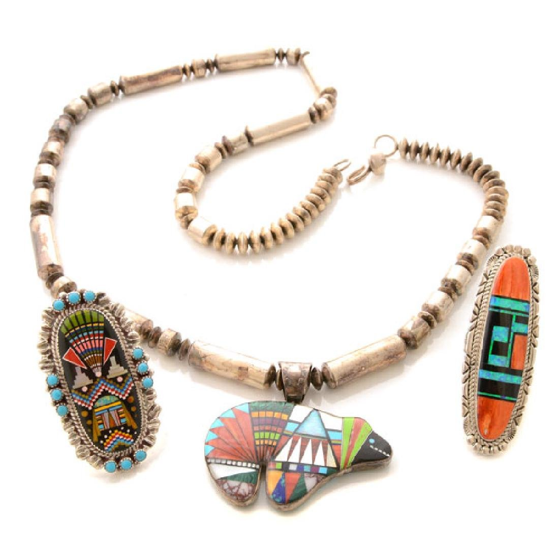 Collection of Native American Multi-Stone Inlay,