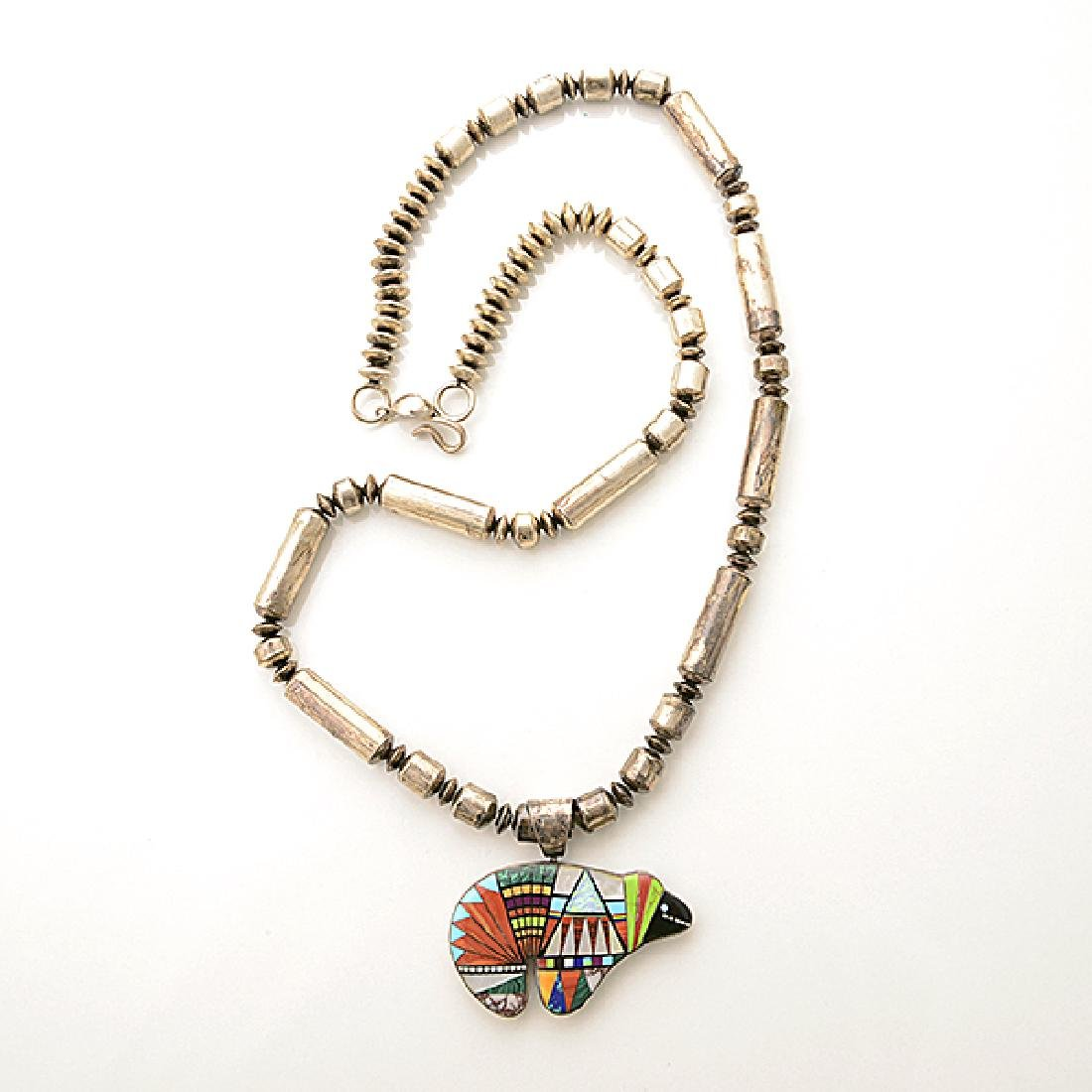 Collection of Native American Multi-Stone Inlay, - 3