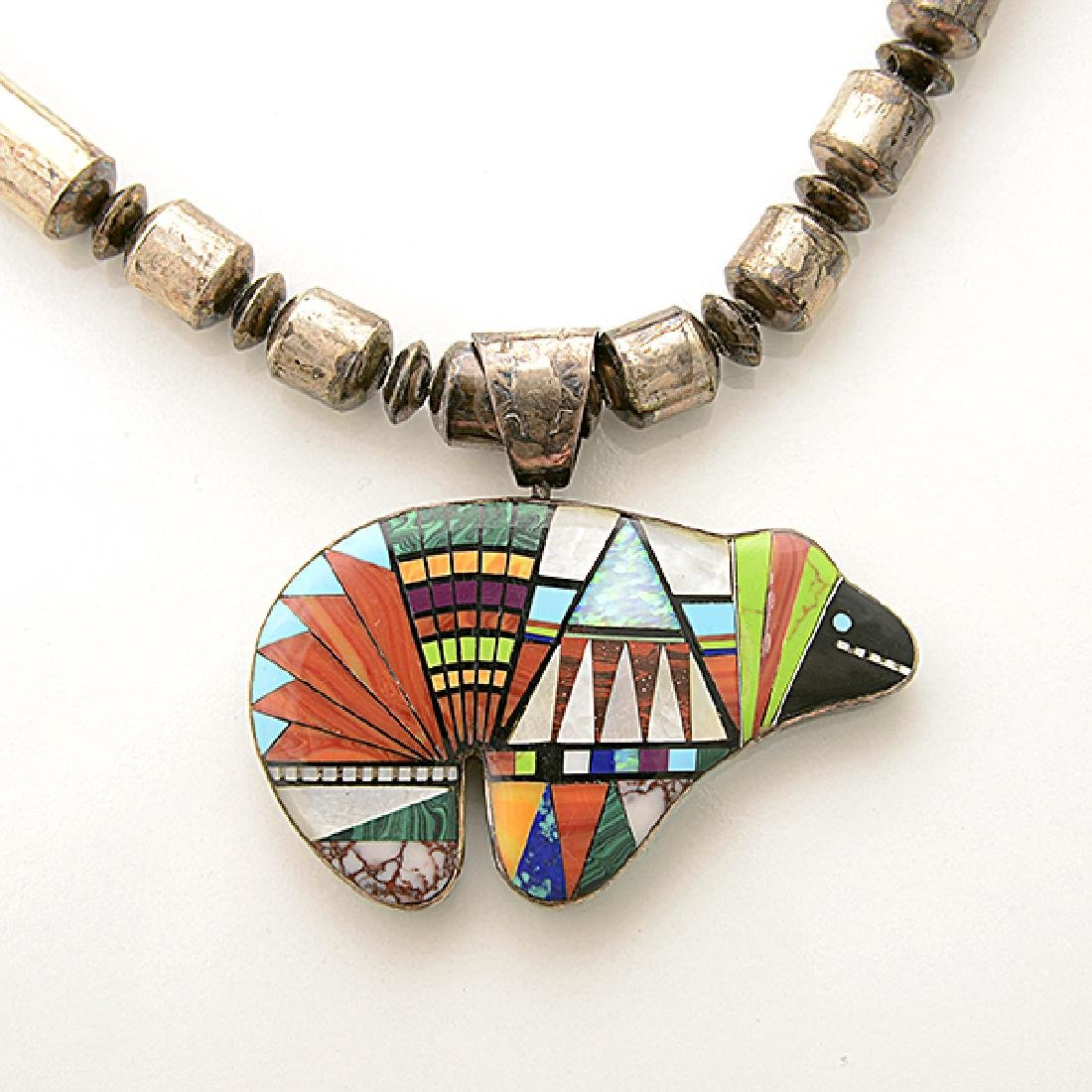 Collection of Native American Multi-Stone Inlay, - 4