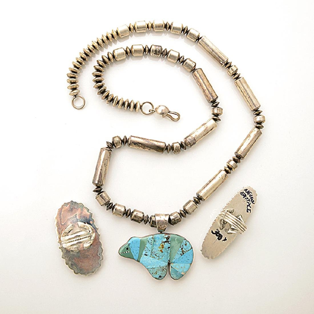 Collection of Native American Multi-Stone Inlay, - 5