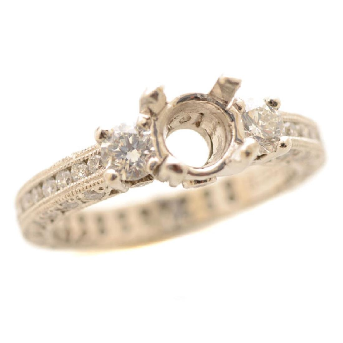 """Tacori """"Reverse Crescent"""" Diamond, Platinum Ring"""