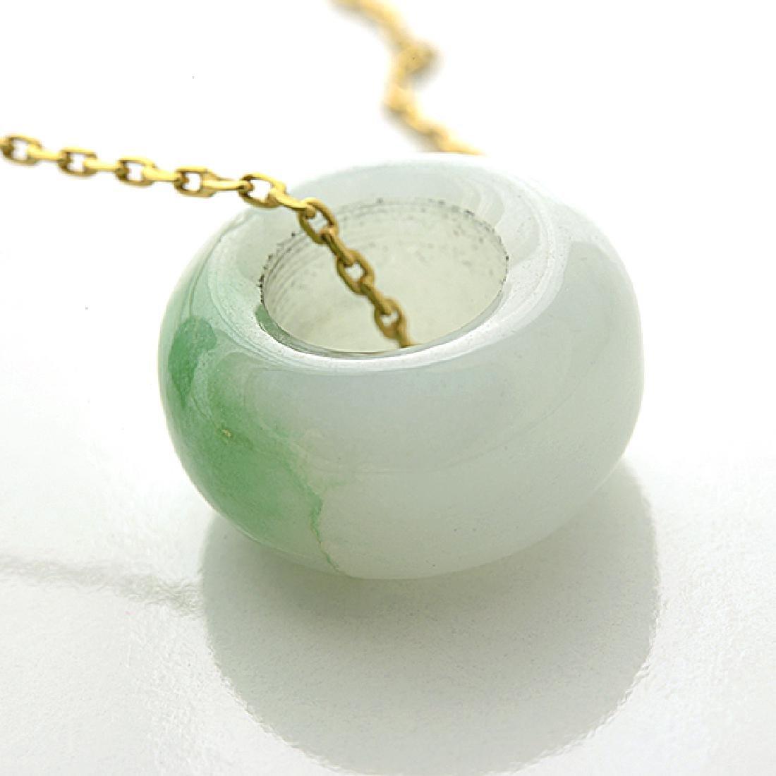 Multi-Stone, Diamond, Yellow Gold Pendant Necklace. - 4