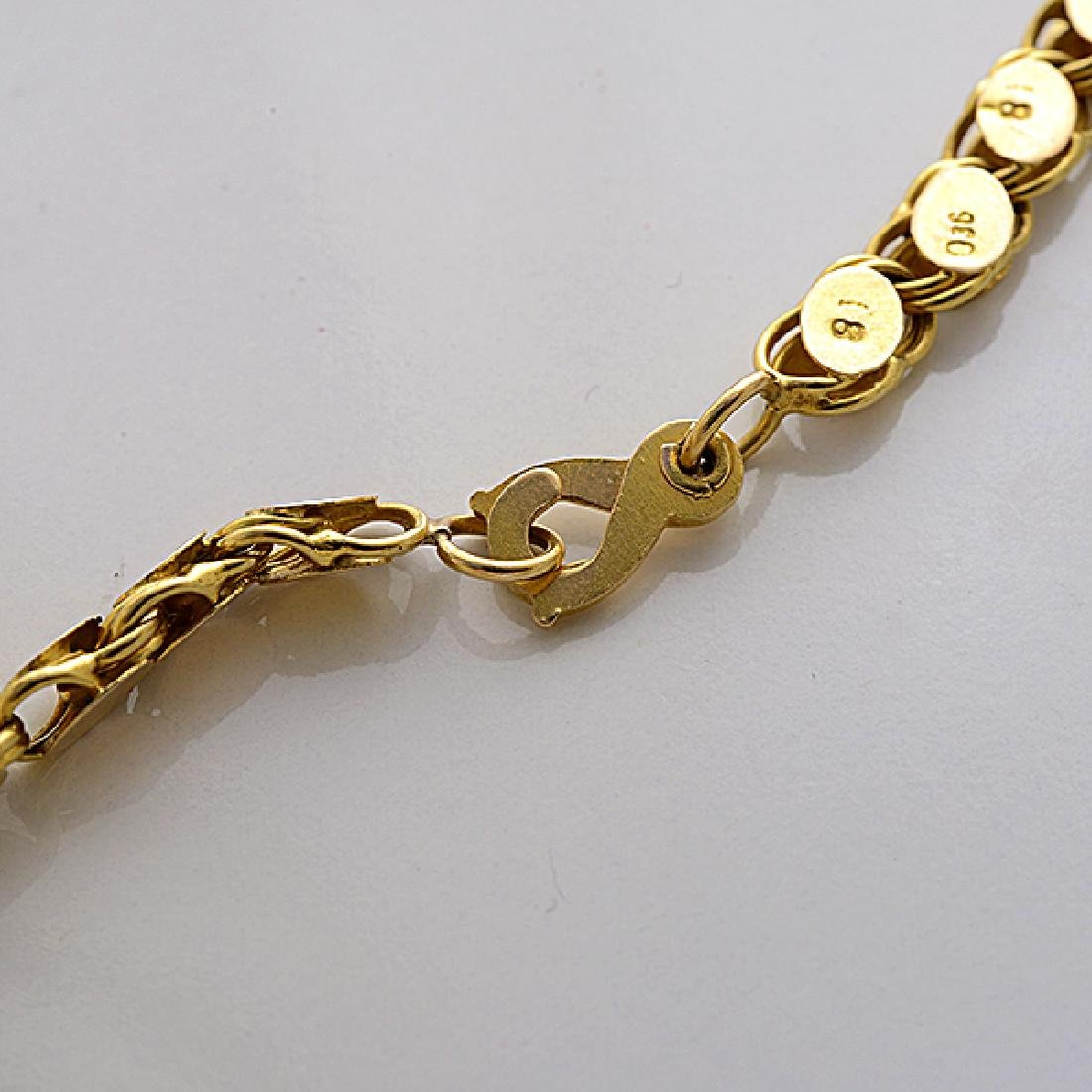18k Yellow Gold Long Chain Necklace. - 5
