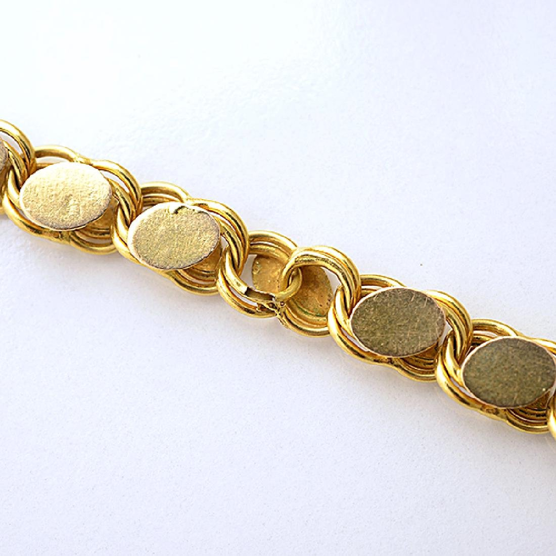 18k Yellow Gold Long Chain Necklace. - 6