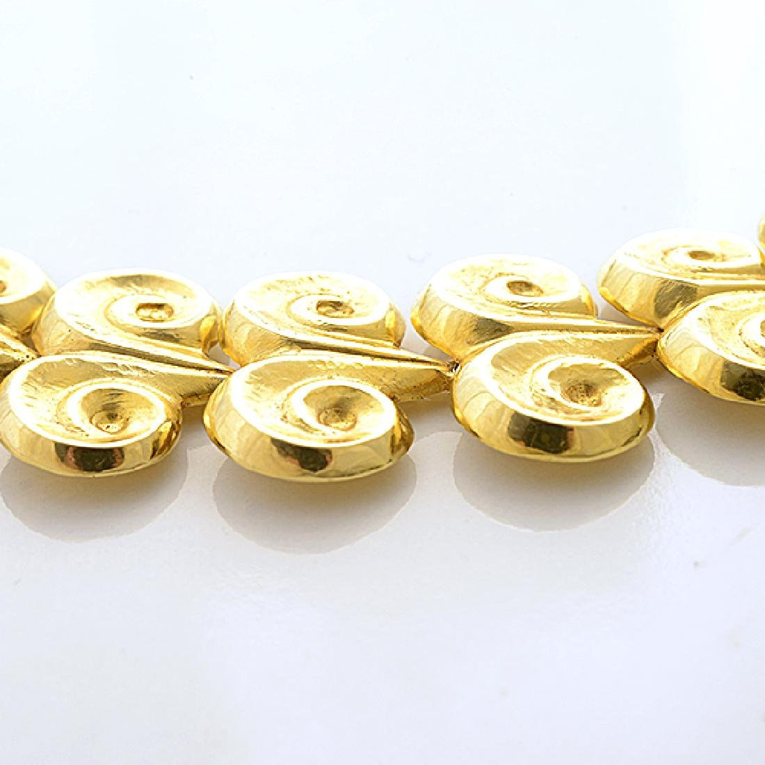 18k Yellow Gold Necklace. - 3