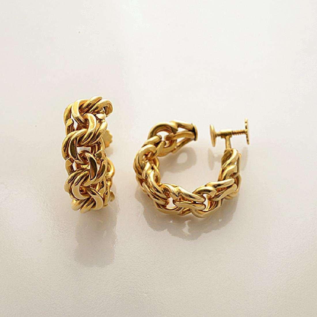 Cartier 14k Yellow Gold Jewelry Suite. - 5