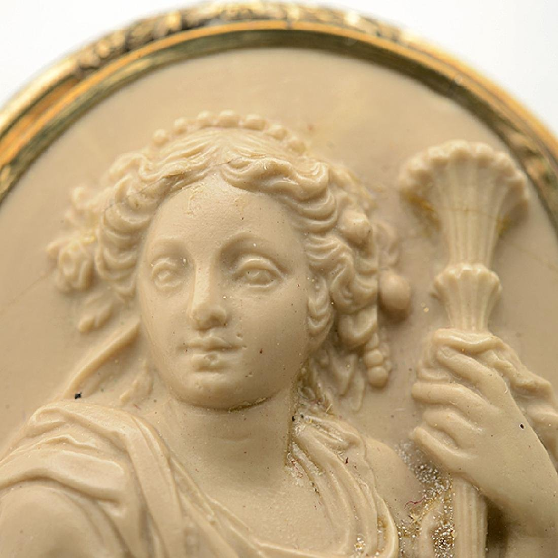 Lava Cameo, Gold-Filled Brooch. - 2